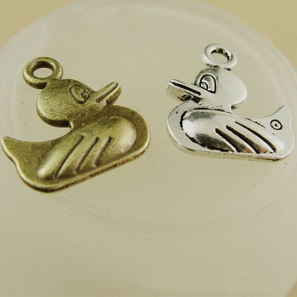 16*14MM Antique Bronze Vintage DIY duck charm, cute animal pendant beads mobile phone accessories wholesale jewelry Korea Retro