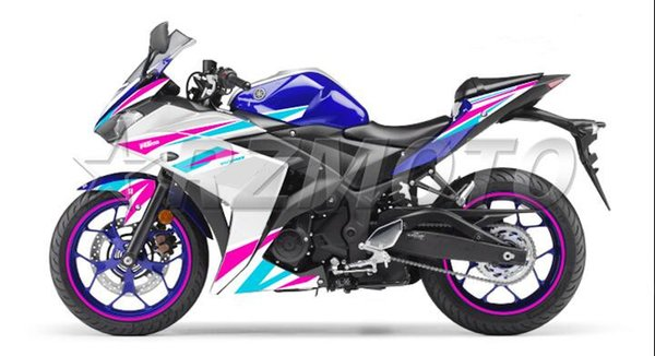 4Gifts New Injection ABS Molding Motorcycle plastic Fairing Kit For YAMAHA R3 R25 2015 2016 15 16 Fairings Bodywork set pink blue white