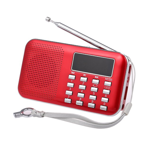Y-896 3W FM Radio Digital Portable Stereo Speaker MP3 Audio Player With 2 Inch Display Screen Support USB Drive TF Card AUX-IN