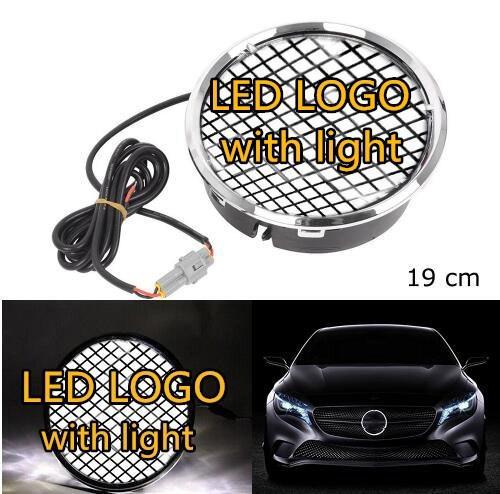 eOsuns Illuminated Car LED Light Front Grille Star Logo Emblem Badge for Mercedes Benz Hood Ornament Emblem Size 19 cm/7.48 inch