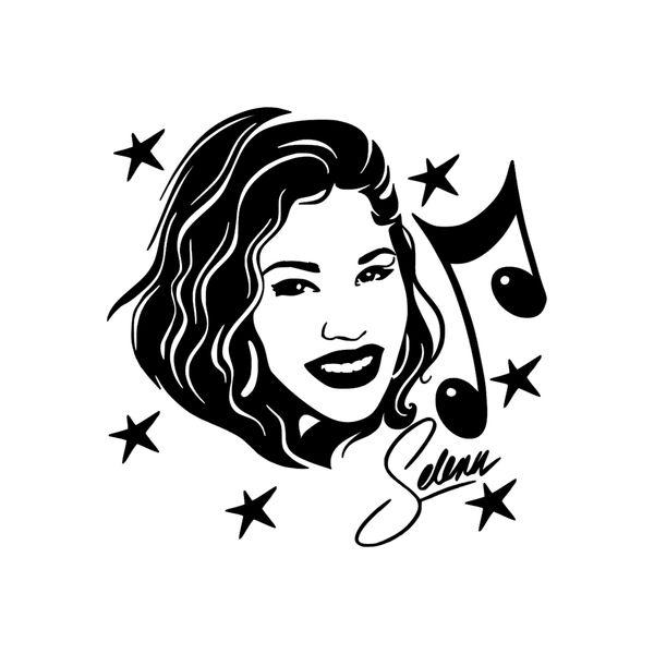 Selena Vinyl Aufkleber Aufkleber Autofenster Musik Mode Sängerin Schauspielerin