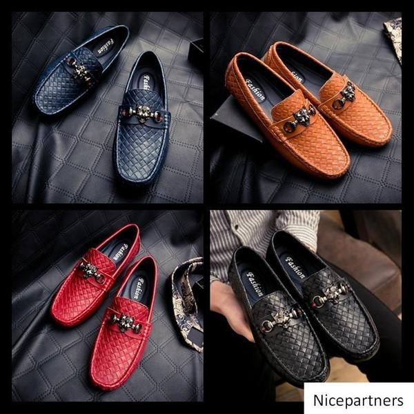 Yüksek Kaliteli Kayma-on loafer'lar EU39-EU46 Erkekler Glitter çivili Erkekler için Kraliyet Mavi Karahindiba Flats Düğün Shoes