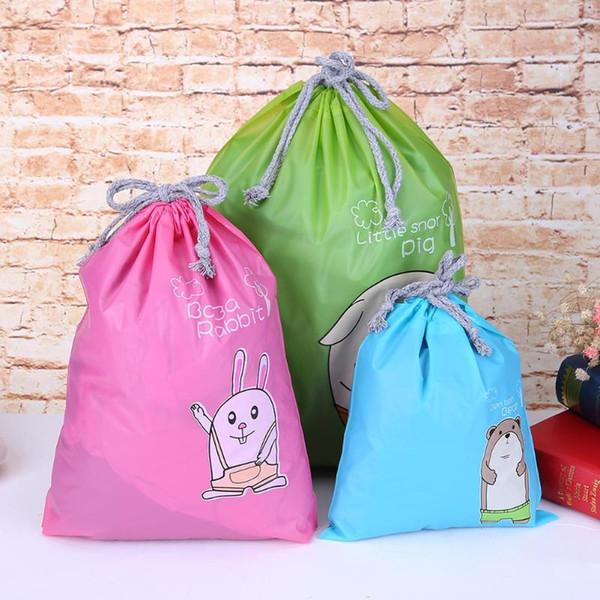 3 Sizes Oxford Cloth Storage Bag Dust Bag Handbag Travel Sundries Storage Kids Toys Travel Shoes Laundry Lingerie Makeup Pouch