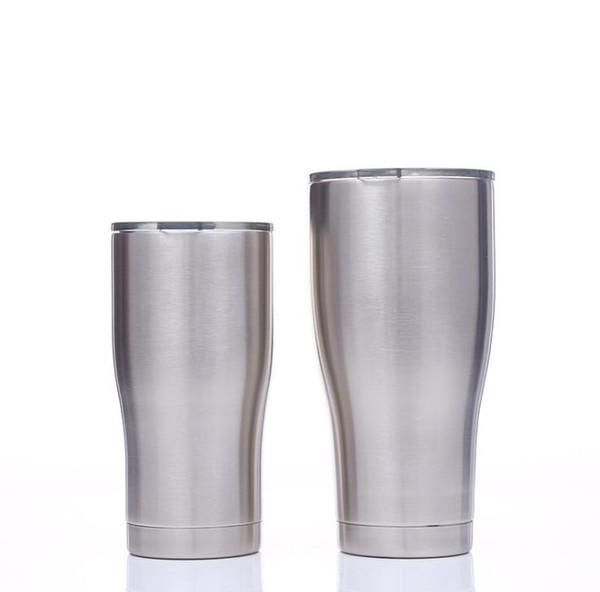 Изогнутые стаканы из нержавеющей стали с двойными стенками Вакуумная талия Форма чашки для воды Изоляция Пивные кофейные кружки 30 унций 20 унций DHL Бесплатно 111