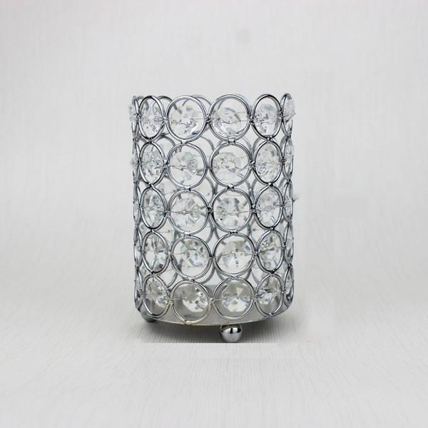 Cristallo cosmetico pennello tubo di immagazzinaggio scrivania squisita decorazione portapenne organizzatore di lusso candeliere stile europeo 50 pezzi dhl