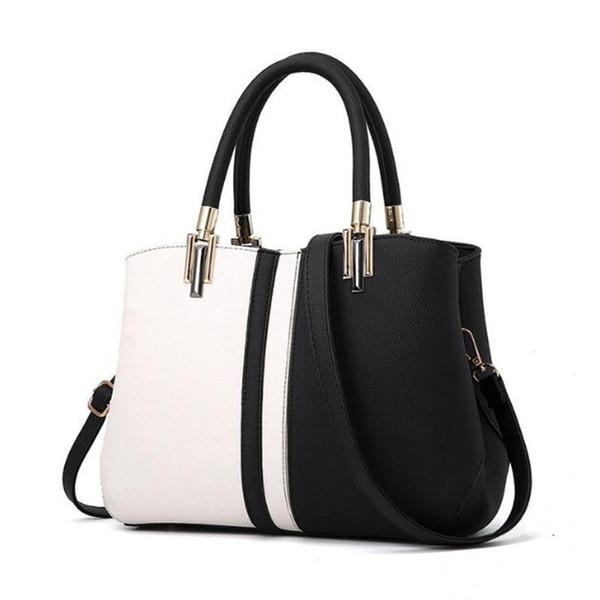 Женские сумки на ремне 2019 Модные женские кожаные сумки Большая вместительная сумка Повседневная кожаная сумка через плечо из искусственной кожи