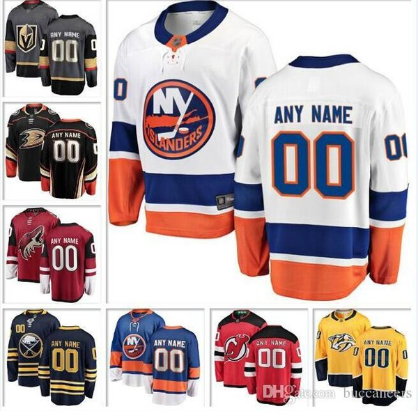 Custom NHL Hockey Jersey Vegas Golden Knights Dallas Stars Vancouver Canucks Arizona Coyotes Camisetas de hockey Buffalo Sabres Devils Toronto