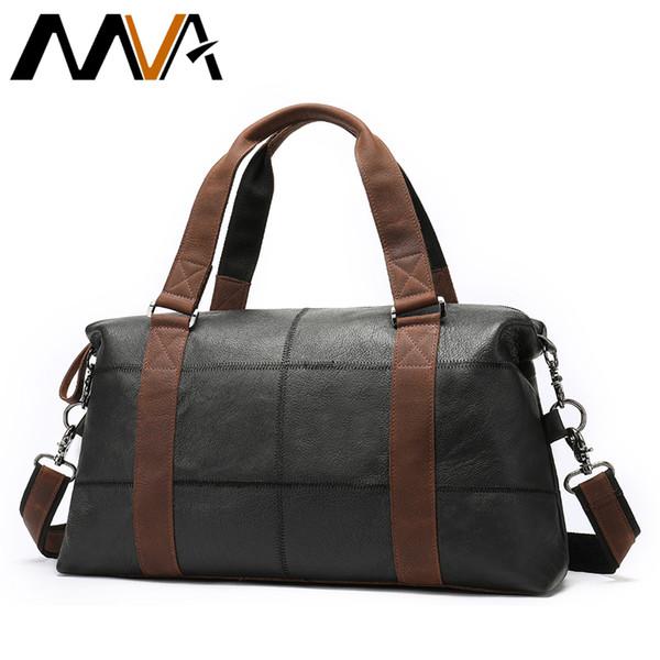 c73393b3e2ae MVA Genuine Leather Men s Travel Bag Vintage Duffle Bags Large Capacity Bag  Male Messenger Men Handbags