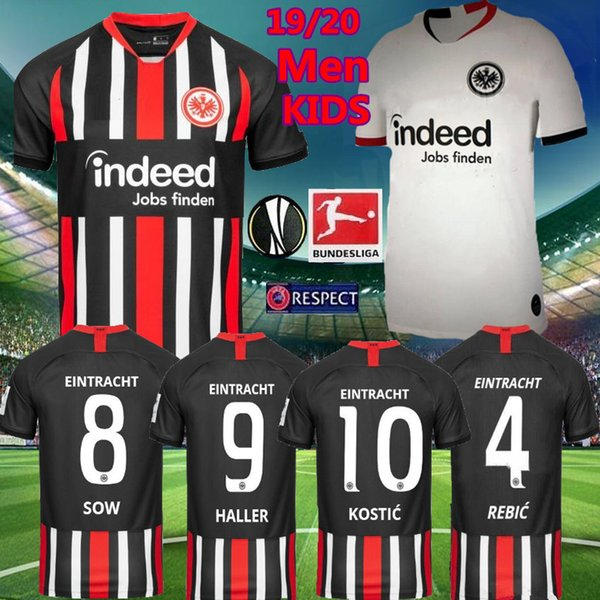 2019 Kids Kit 2019 Eintracht Frankfurt Soccer Jersey Men Home Away 2019 2020 Frankfurt Europa League SOW HALLER KOSTIC REBIC Football Shirts From