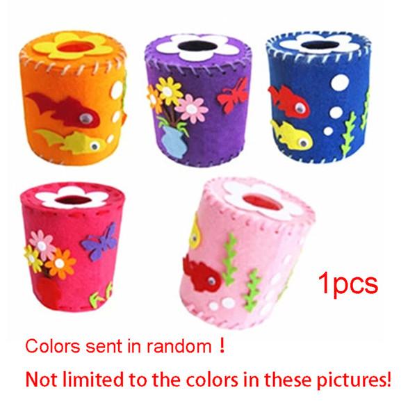 New Colorful Home Car Napkins Holder Organizer Decoration EVA cloth 3D tissue Mold Box Flower Tissue Box Color Random