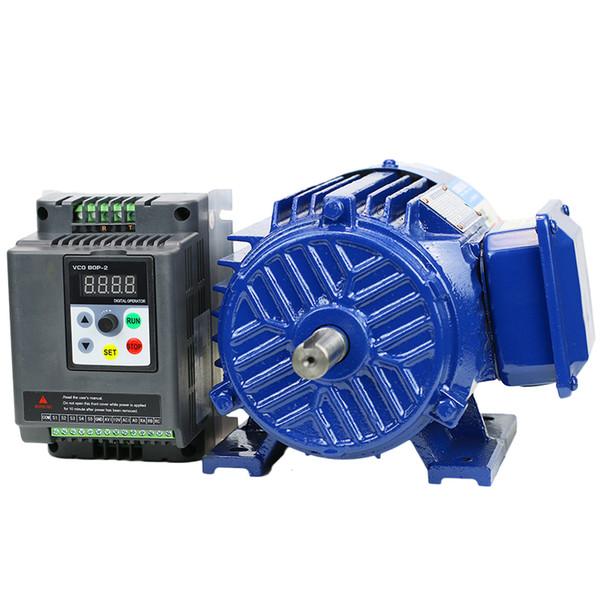 1.5KW Single-phase 220VAC Frequency converter VFD Speed regulating motor Low speed motor Infinitely variable speed motor spindle