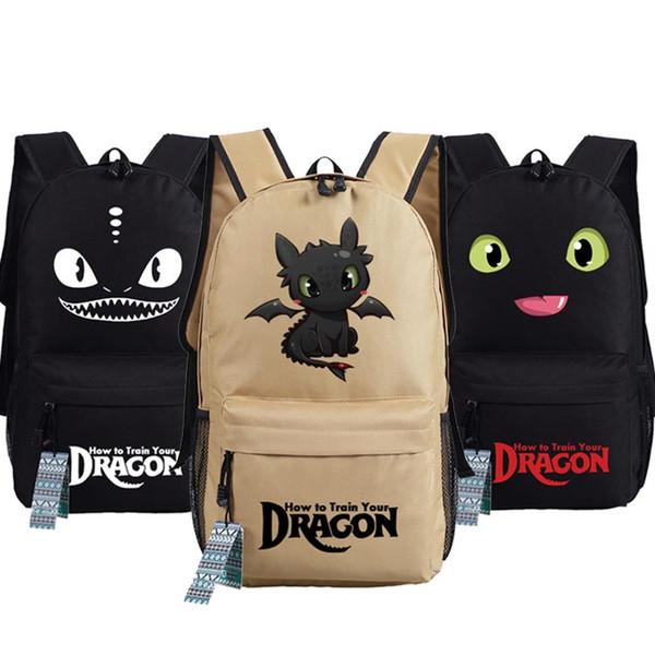 Novo Como Treinar o Seu Dragão Mochila Anime NightFury oxford Schoolbags Moda Unisex Viagem