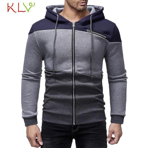 Men Winter Jacket Patchwork Hoodie Zipper Sweatshirt 2018 New Brand Warm Long Casual Manteau Homme Hiver Plus Size 18Nov28