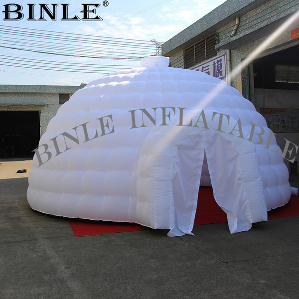 Giant white advertising inflatable igloo Booth Inflatable shelter dome luna tent for Sports event tent