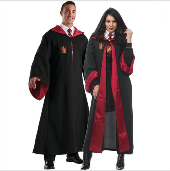 Хэллоуин Гарри Поттер Академия Robe мужчина и женщина Некромант Косплей Одежда Средневековье Ftasy Тема костюм