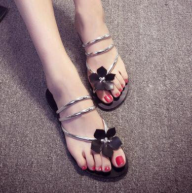 Nouvelle arrivée Bohemia Sweet Sandals Flower - Tongs plates Chaussures pour femmes Livraison gratuite