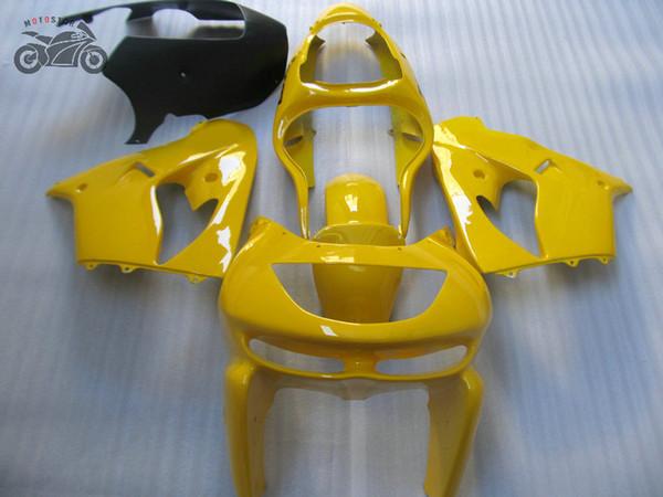 Personalizzato carenatura del motociclo per Ninja Kawasaki ZX9R 98 99 giallo nero carrozzeria carenature kit ZX9R ZX 9R 1998 1999