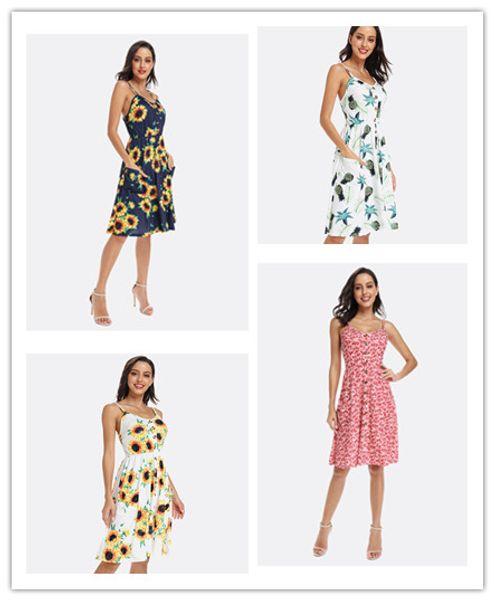 2019 designer women dresses Slip Dress Women summer clothes Floralprint Sexy Backless Hot selling Chinawomenclothingmanufacturer