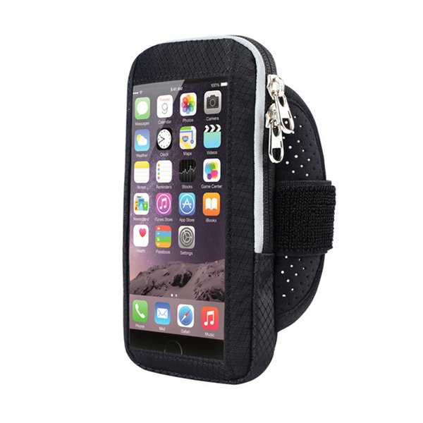 Jogging Mountain Climbing Cell Phone Pack Nylon Running Exercise Cycling Screen Armband Case Workout Fitness Arm Bag Gym