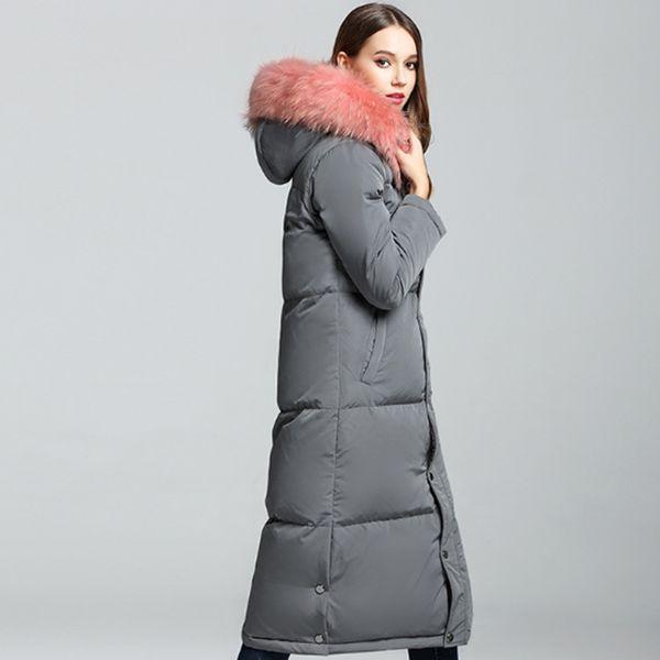 donne grigio   nero   ArmyGreen New Winter Jacket Big Real pelliccia di  procione con cappuccio 1f1b1995e62