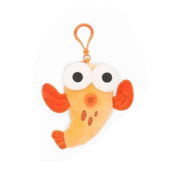 4 Styles Mini Baby Shark Plush Keychains 10CM Plush Stuffed Shark Toy Doll Animal Key Holders Key Pendant Cute Baby Gift bag Pack Car Decor