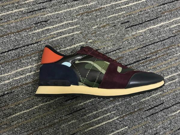 Zapatillas Rockruds de gamuza de cuero con cordones Zapatillas para hombre Zapatillas de deporte de camuflaje con remaches para los zapatos deportivos Zapatillas informales 11