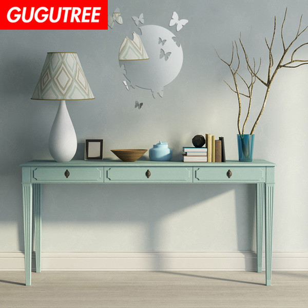 Decorate Home 3D moon buttlefly mirror art wall sticker decoration Decals mural painting Removable Decor Wallpaper G-220