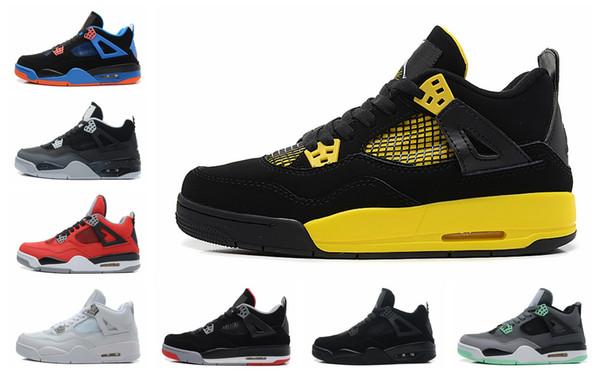 Hot 2019 New Bred 4 4s IV What The Cactus Jack Alas de láser Zapatos para hombre Denim Azul Eminem Pale Citron Hombres Sports Sports Sneakers