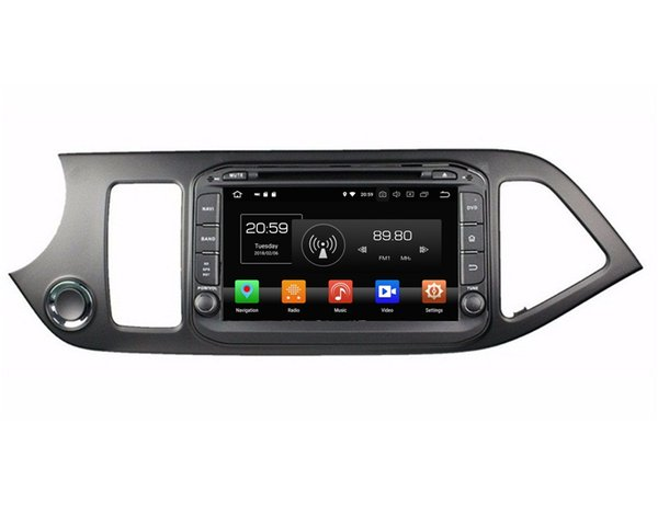 "IPS 1024*600 4GB RAM 64GB ROM 8-Core 8"" Android 8.0 Car dvd Player for Kia Morning Picanto 2014 Radio GPS Bluetooth WIFI USB DVR Mirror-link"