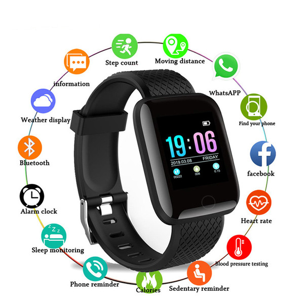 top popular D13 Smart Watches 116 Plus Heart Rate Watch Smart Wristband Sports Watches Smart Band Waterproof Smartwatch Android With retail packaging 2020
