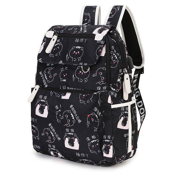 Fashion Cute Face Emoji Student Girl School Bag Cartoon Women Backpack Travel Women Shoulder Bag Rucksacks Book Bagpack 2019 Y190601