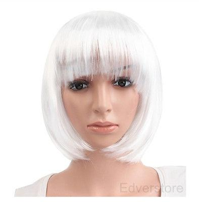 Synthetic fibre queen Womens Lady Short Straight Hair Fashion Full Wigs Cosplay Party Bob Wigs for women wig