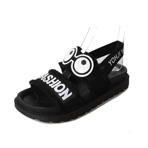 Venda quente-Verão Mulheres Sapatos Sandálias de Praia Sola Grossa Dos Desenhos Animados Sandálias Moda Mulheres Jovens Doce Meninas Sapatos de Verão A767
