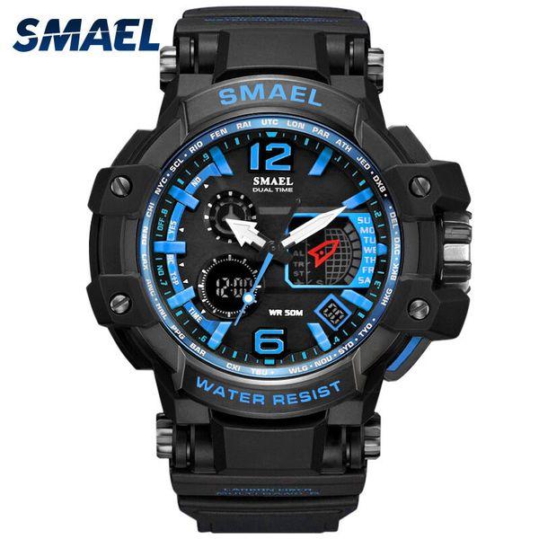 fitness watch SMAEL Sport Watch Men Digital LED Electronic Watches Rubber Quartz Wristwatches reloj deportivo