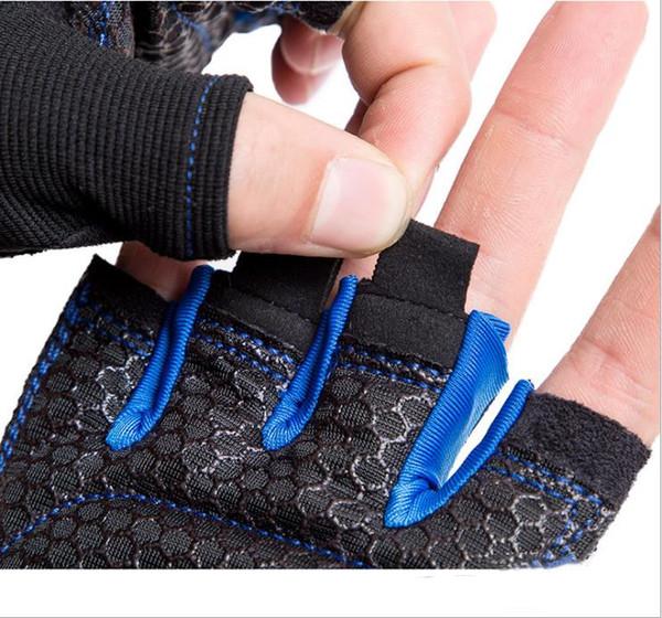 Neue Mode Fitness Handschuhe Hantel Reck Handgelenkschutz Übung Training Half Finger Rutschfeste Radfahren Sportgeräte Atmung