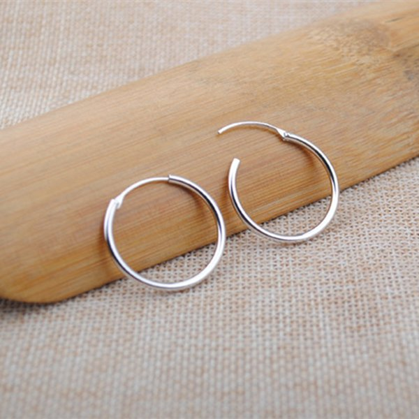 top popular Pure 925 Sterling Silver small hoop earrings women girls baby silver jewelryThe Christmas giftCool little earrings 2019