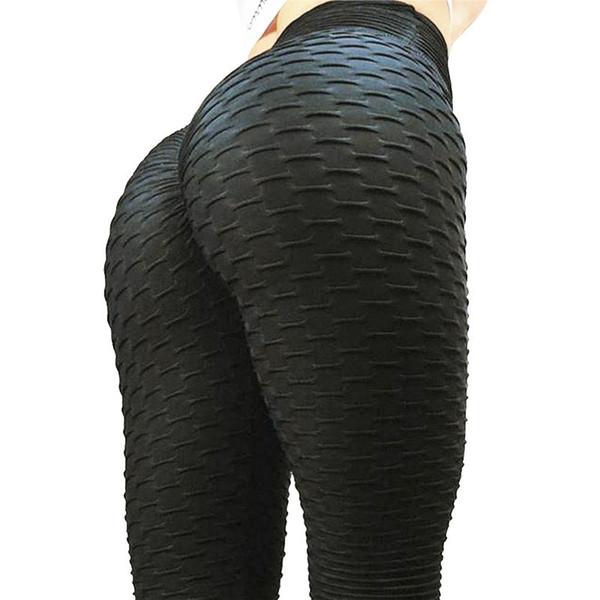 Black Leggings Women Polyester Ankle-length Standard Fold Pants Elasticity Keep Slim Push Up Fitness Female Legging