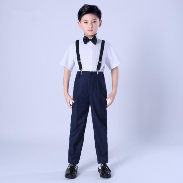 2019 New Top Quality Boys White Blazer 4 pcs /set Wedding Suits for Boy Formal Dress Suit Prom Suits Toddler Boys