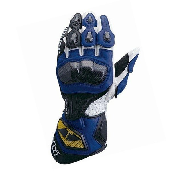 TAICHI Gloves Motorcycle Protective Leather Gloves Motocross Long section Carbon Fiber MOTO Motorbike Racing Black