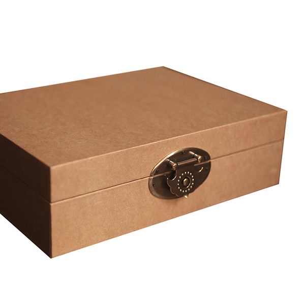 New Cardboard And Paper Gift Case Handmade Input Empty Storage Boxes Display Women Jewelry Box 237*176*70mm Can Customize LOGO