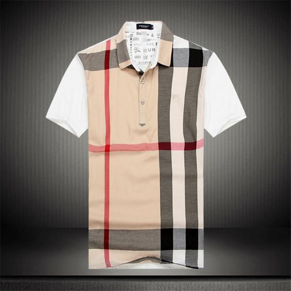 T-shirt plaid in cotone stampato patchwork moda uomo moda manica corta t-shirt da uomo