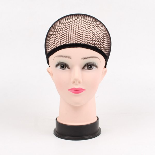Plussign Black Mesh Dome Cap Wholesale 1PC Breathable Glueless Stretchable Spandex Hair Net Weave Cap For Making