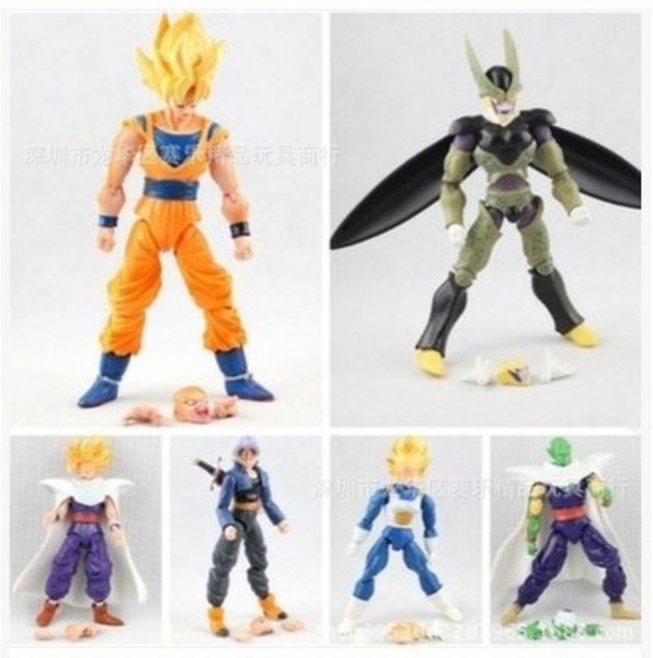New 6Pcs /Lot 15Cm Dragon Ball Dbz Anime Goku Vegeta Piccolo Gohan Super Saiyan Joint Movable Dragon Ball Z Action Figures Toy