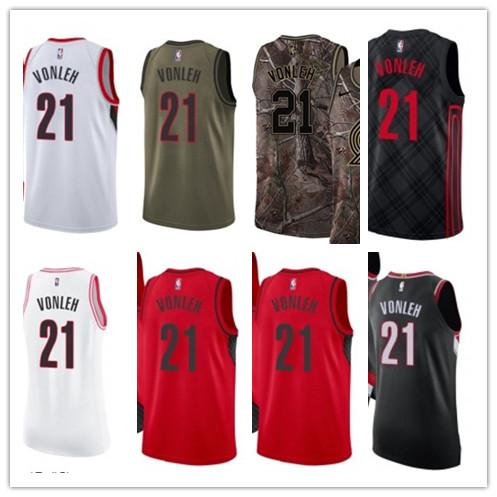 official photos 6aed6 13c12 2019 Custom Best 2018 Basketball Wear Men'S Portland Trail Blazer#21 Noah  Vonleh Yellow Jersey City Edition Basketball Jerseys From Gjybest003, $18.1  ...