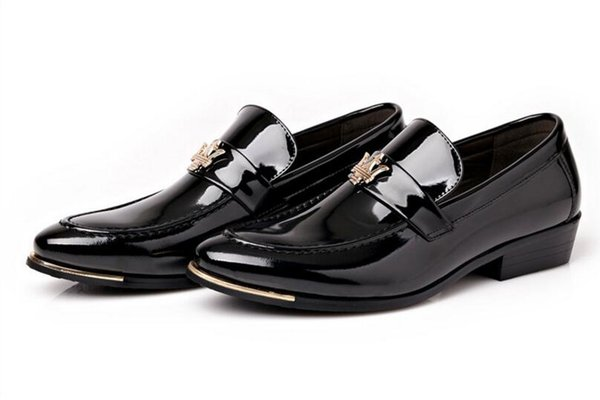 Hot New Arrival Maserati Men's Fashion Shine high quality leather shoes wedding dress shoes for men 4color nx2a34