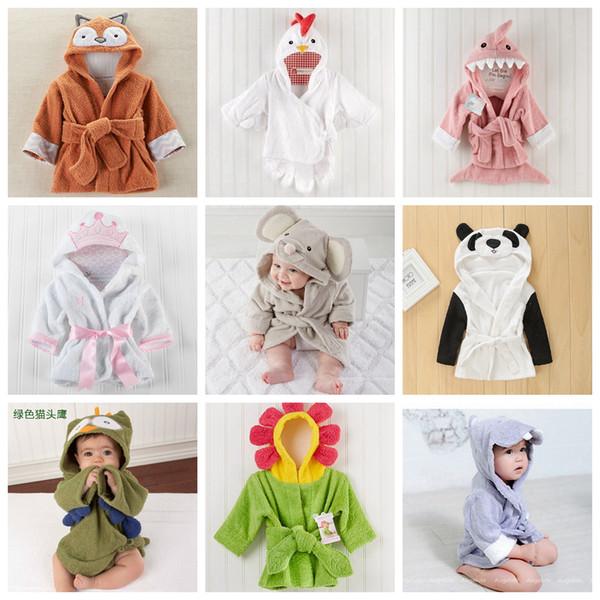 lion enfants animaux Peignoir à capuchon Robes Fox Cartoon Chemise de nuit Souris Hibou enfants Serviettes Pyjama peignoirs Accueil FFA3493 Chemise de nuit