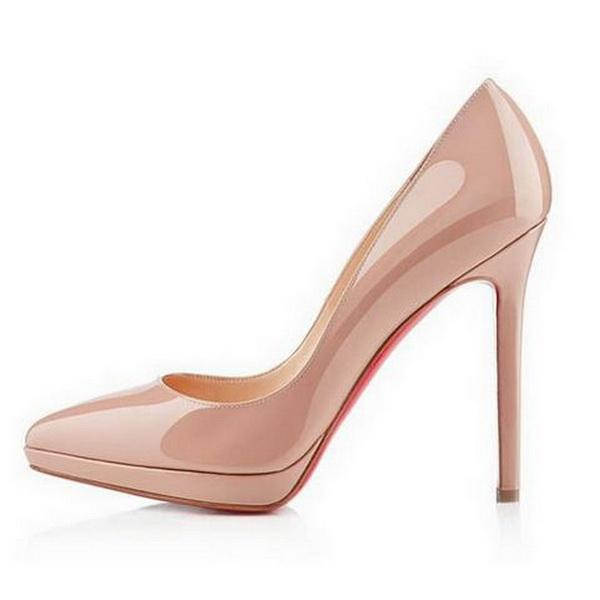 Classic Hot Sales Nude Patent Leather High Heels Women Pumps 672a2fdc2fc4