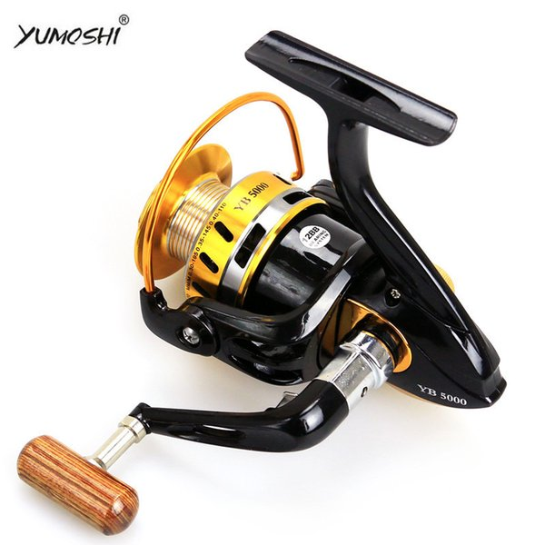 YUMOSHI YB SERIES SPINNING REELS BALL GEAR 12BB ALUMINIUM ALLOY LINE CUP AND ROCK ARM STURDY AND DURABLE FISHING REELS