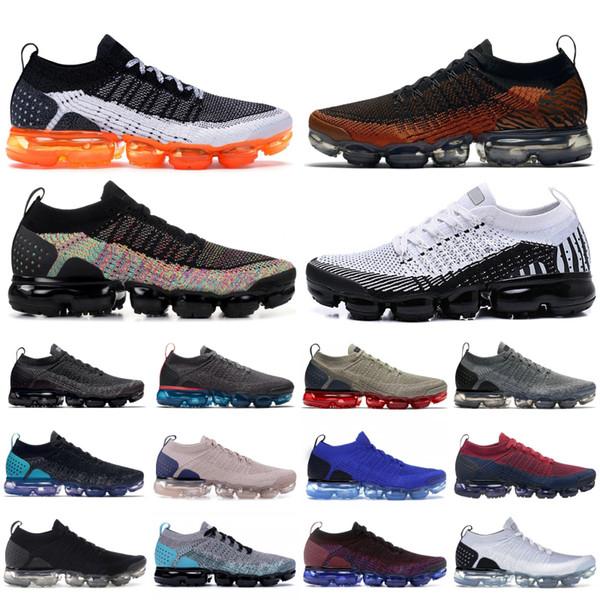 top popular Zebra Tiger Safari Knit 2.0 1.0 Designer Shoes Pure Platinum Triple Black Metallic Gold Mens Womens Running Sneakers Trainers 5.5-11 2019