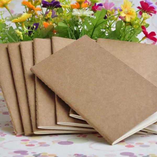 Cuaderno de papel en blanco Bloc de notas libro vintage cuaderno suave notas diarias Kraft cubierta diario cuadernos bloc de notas al por mayor LX7349